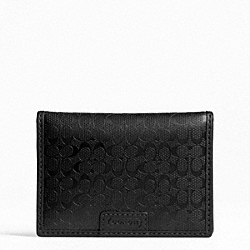 COACH HERITAGE SIGNATURE EMBOSSED PVC SLIM PASSCASE ID - ONE COLOR - F74580