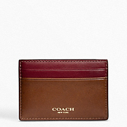 COACH BLEECKER LEATHER ID CARD CASE - ONE COLOR - F74589