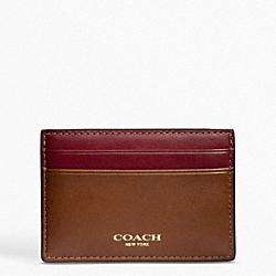 BLEECKER LEATHER ID CARD CASE COACH F74589