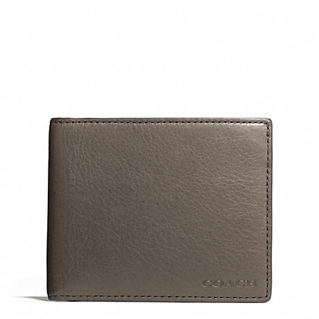 COACH BLEECKER LEATHER SLIM BILLFOLD ID WALLET - SHARKSKIN - f74590