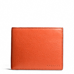 COACH BLEECKER LEATHER SLIM BILLFOLD ID WALLET - SAMBA - F74590