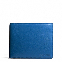 COACH BLEECKER LEATHER SLIM BILLFOLD ID WALLET - IMPERIAL BLUE - F74590
