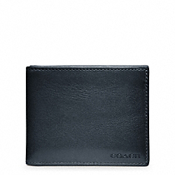 BLEECKER LEATHER SLIM BILLFOLD ID WALLET COACH F74590