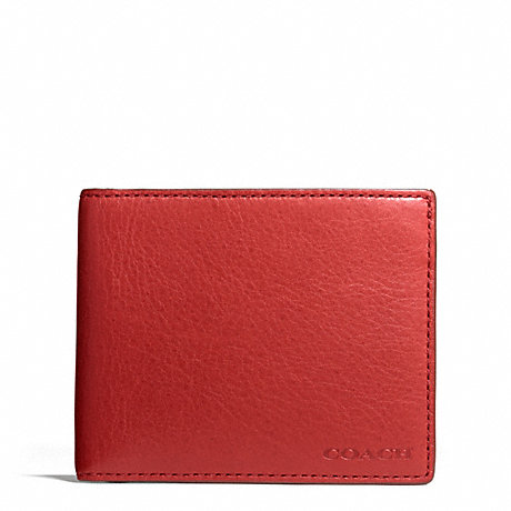 COACH BLEECKER LEATHER SLIM BILLFOLD ID WALLET -  - f74590