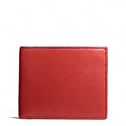 COACH BLEECKER LEATHER SLIM BILLFOLD ID WALLET - ONE COLOR - F74590