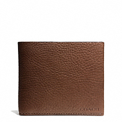 COACH BLEECKER PEBBLED LEATHER COIN WALLET - MAHOGANY - F74596