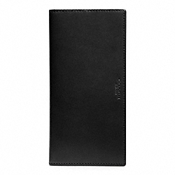 COACH CROSBY SLIM BREAST POCKET IN LEATHER - BLACK/BLACK - F74604
