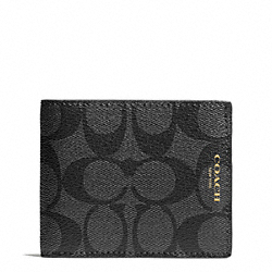 COACH BLEECKER SIGNATURE SLIM BILLFOLD - ONE COLOR - F74612