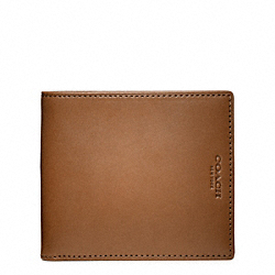 COACH CROSBY DRESS LEATHER DOUBLE BILLFOLD WALLET - ONE COLOR - F74613