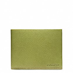 BLEECKER PEBBLED LEATHER SLIM BILLFOLD COACH F74614