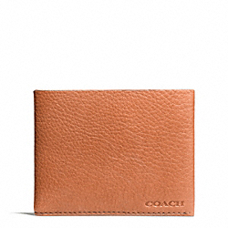 COACH BLEECKER PEBBLED LEATHER SLIM BILLFOLD - ONE COLOR - F74614