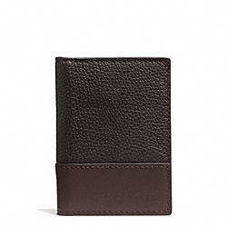 COACH CAMDEN LEATHER SLIM PASSCASE ID WALLET - MAHOGANY/DARK MAHOGANY - F74639