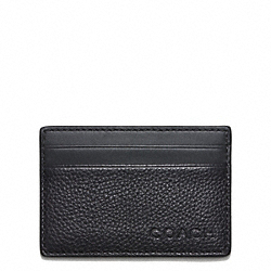 COACH CAMDEN LEATHER SLIM CARD CASE - ONE COLOR - F74640
