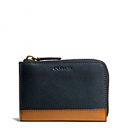 BLEECKER HALF ZIP WALLET IN COLORBLOCK LEATHER - f74666 - 25362