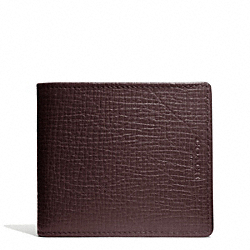 COACH CROSBY COMPACT ID WALLET IN BOX GRAIN LEATHER - ONE COLOR - F74672