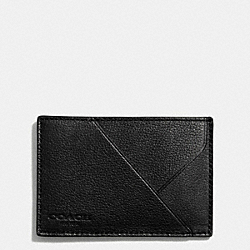 COACH THOMPSON CARD CASE IN LEATHER - BLACK - F74724