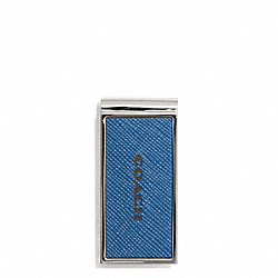 COACH LEXINGTON SAFFIANO LEATHER MONEY CLIP - MARINE, MARINA - F74735