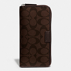 COACH COACH HERITAGE SIGNATURE ACCORDION WALLET - MAHOGANY/BROWN - F74737