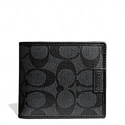 HERITAGE SIGNATURE COIN WALLET - f74741 - CHARCOAL/BLACK