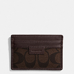 COACH HERITAGE SLIM CARD CASE IN SIGNATURE - MAHOGANY/BROWN - COACH F74759