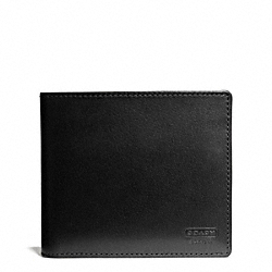 COACH WATER BUFFALO COMPACT ID WALLET - BLACK - F74764