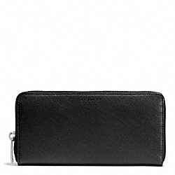 COACH SAFFIANO LEATHER LEXINGTON ACCORDION WALLET - BLACK - F74769