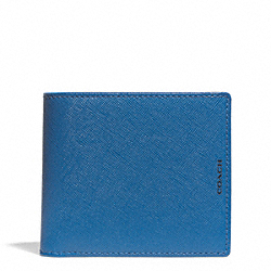 LEXINGTON ID COIN WALLET IN SAFFIANO LEATHER - MARINE, MARINA - COACH F74771