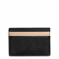 COACH LEXINGTON SAFFIANO SLIM CARD CASE - ONE COLOR - F74772