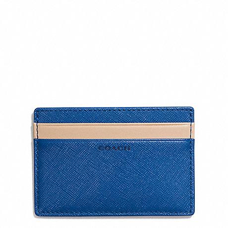 COACH LEXINGTON SAFFIANO SLIM CARD CASE - MARINE, MARINA - f74772