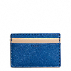 COACH LEXINGTON SAFFIANO SLIM CARD CASE - MARINE, MARINA - F74772