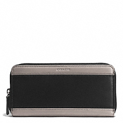 COACH HERITAGE SPORT ACCORDION WALLET - SLATE/BLACK - F74795