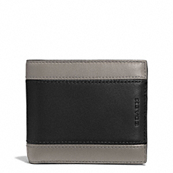 COACH HERITAGE SPORT ID COIN WALLET - SLATE/BLACK - F74805