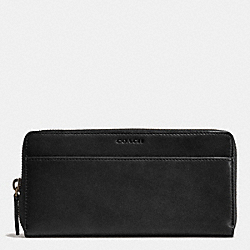 COACH BLEECKER ACCORDION WALLET IN LEATHER - BLACK/FAWN - F74809