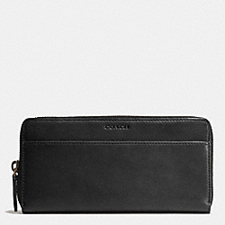 COACH BLEECKER ACCORDION WALLET IN LEATHER - BLACK - F74809