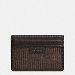 COACH HERITAGE CHECK CARD CASE - ESPRESSO - COACH F74814