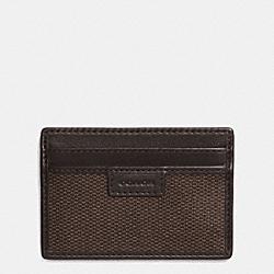 COACH COACH HERITAGE CHECK CARD CASE - ESPRESSO - F74814