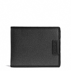 COACH HERITAGE CHECK SLIM BILLFOLD - CHARCOAL - F74816