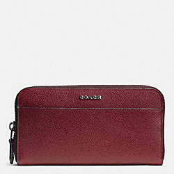 COACH ACCORDION WALLET IN LEATHER - BORDEAUX - F74851