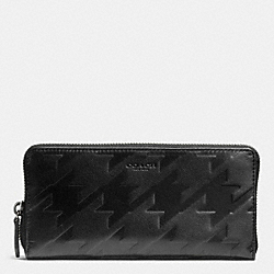 COACH ACCORDION WALLET IN HOUNDSTOOTH LEATHER - BLACK/BLACK - F74881