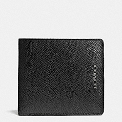 COACH COIN WALLET IN LEATHER - BLACK - F74882