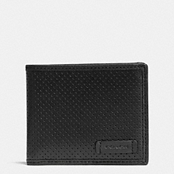 COACH VARICK SLIM BILLFOLD ID WALLET IN LEATHER - BLACK - F74889