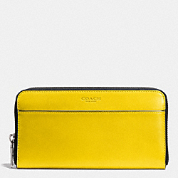 COACH ACCORDION WALLET IN SPORT CALF LEATHER - YELLOW - F74899