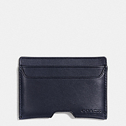 COACH ARTISAN CARD CASE IN SPORT CALF LEATHER - MIDNIGHT - F74928