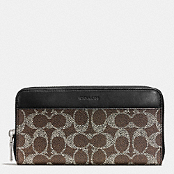ACCORDION WALLET IN SIGNATURE - SADDLE - COACH F74936