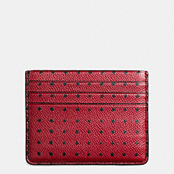 COACH CARD CASE IN PRINTED CROSSGRAIN LEATHER - BANDIT - F74952