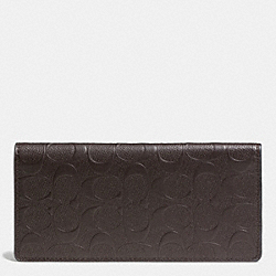 COACH BREAST POCKET WALLET IN SIGNATURE LEATHER - MAHOGANY - F74963
