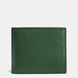 COMPACT ID IN CROSSGRAIN LEATHER - FERN - COACH F74974