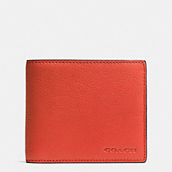 COMPACT ID IN NOVELTY LEATHER - f74980 -  CORAL