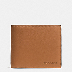 COMPACT ID IN NOVELTY LEATHER - f74980 -  SADDLE