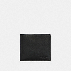 COIN WALLET IN SPORT CALF LEATHER - BLACK - COACH F75003